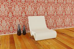 Modern chair in 3d Royalty Free Stock Photography
