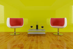 Modern chair in 3d Royalty Free Stock Images