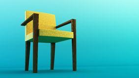 Modern chair 3d rendering royalty free illustration