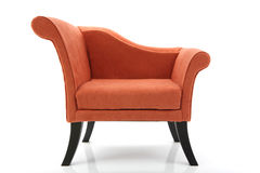 Modern Chair. Contemporary upholstered side chair on a white background Stock Image