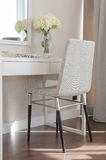 Modern chair with dressing table Stock Image