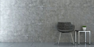 Modern chair in empty room Royalty Free Stock Image