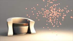 Modern Chair with Particles Stock Photo