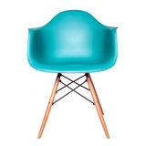 Modern chair stool of blue color isolated Stock Photo