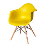 Modern chair stool of yellow color isolated Royalty Free Stock Images