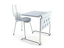 Modern chair and table Royalty Free Stock Image
