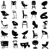 Modern chair vector. 1 in black and white Royalty Free Stock Images