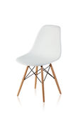 Modern chair with wooden legs Stock Photo