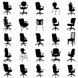 Modern chairs. Set of modern chairs silhouettes vector