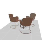 Modern chairs scene Royalty Free Stock Photography
