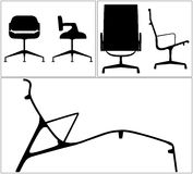 Modern Chairs Silhouette Vector Stock Images