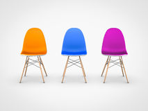 Modern chairs on white background Stock Photo