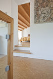 Modern chalet,  interior Stock Images