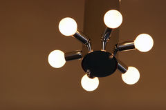 Modern chandelier Stock Images