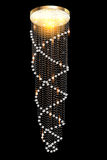 A modern chandelier with crystal pendants on the b. Illustration of a modern chandelier with crystal pendants on the black Stock Image