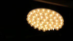 Modern Chandelier Interior Design. LED lights stock video footage