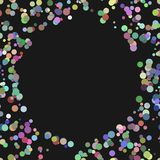 Modern chaotic dot background - vector graphic from multicolored circles  Stock Photo