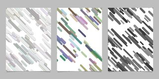 Modern chaotic rounded diagonal stripe background pattern card background template set - vector brochure designs. Modern seamless chaotic rounded diagonal stripe Royalty Free Stock Photography