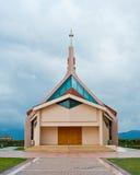 Modern chatolic church. Modern church on a cloudy day in Croatia Stock Images