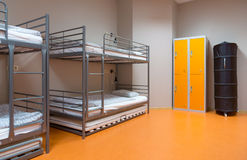 Modern cheap hostel interior Royalty Free Stock Photography