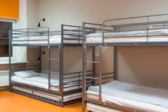 Modern cheap hostel interior Royalty Free Stock Images
