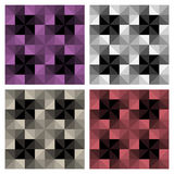 Modern Check Patterns. In various colourways. Can be tiled to make a repeat pattern stock illustration