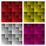 Modern Check Patterns. In various colourways, can be tiled to make seamless patterns stock illustration