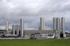 Modern Cheese Factory Industrial Plant Royalty Free Stock Image