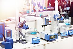Modern chemical equipment for lab. Oratory royalty free stock photography