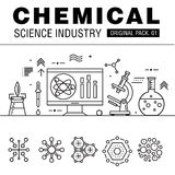 Modern chemical science industry. Royalty Free Stock Images