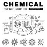 Modern chemical science industry. Stock Photography