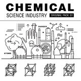Modern chemical science industry. Royalty Free Stock Photos