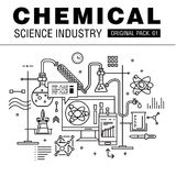Modern chemical science industry. Stock Photo