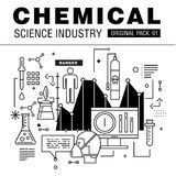 Modern chemical science industry. Stock Image