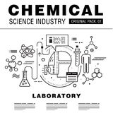 Modern chemical science industry. Stock Images