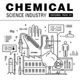 Modern chemical science industry. Royalty Free Stock Image