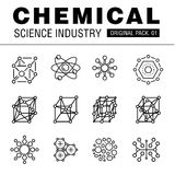Modern chemical science industry. Royalty Free Stock Photography