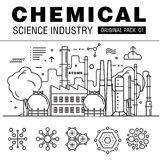 Modern chemical science industry. Stock Photos