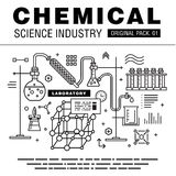 Modern chemical science industry. Royalty Free Stock Photo