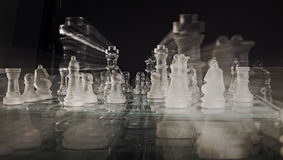 Modern Chess Set Royalty Free Stock Photography