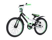 Modern child bicycle. On white background royalty free stock images