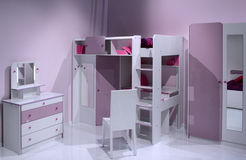 Modern child room interior design. Royalty Free Stock Image