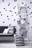 Modern child`s room interior. Wall background Stock Photography