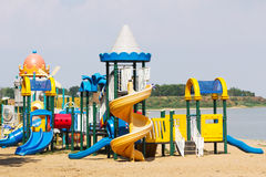 Modern children playground Stock Images