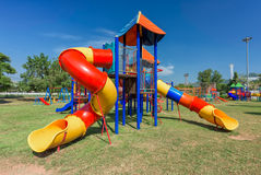 Modern children playground Royalty Free Stock Image