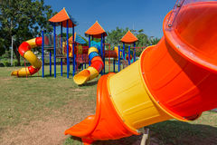Modern children playground Stock Photos