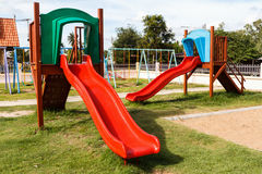 Modern children playground in park Stock Images
