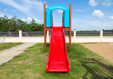Modern children playground in park Royalty Free Stock Image