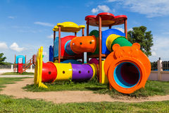 Modern children playground in park Stock Photography