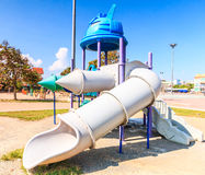 Modern children playground slide Royalty Free Stock Image